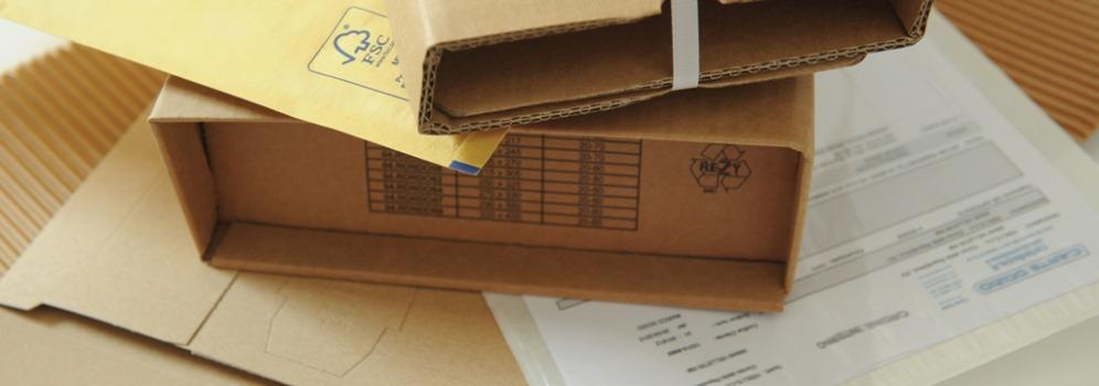 A4 F.to interno mm 240x350 Buste rigide in cartone avana per spedizioni Carte Dozio - 150 pz conf.